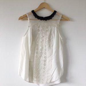 Delicate collar blouse